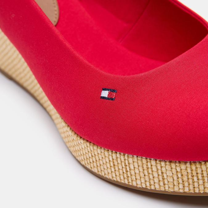 Sandales compensées tommy-hilfiger, Rouge, 669-5189 - 26