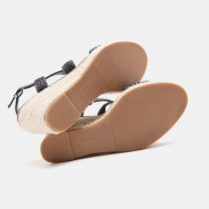 Sandales compensées bata, Noir, 761-6961 - 15