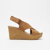 Sandales compensées bata, Brun, 766-3964 - 13