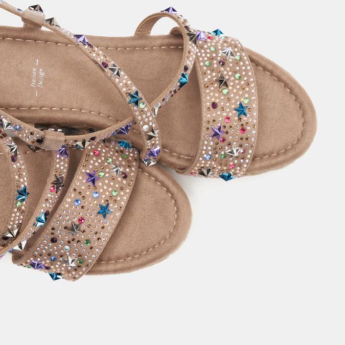 Sandales compensées bata, Jaune, 769-8951 - 17