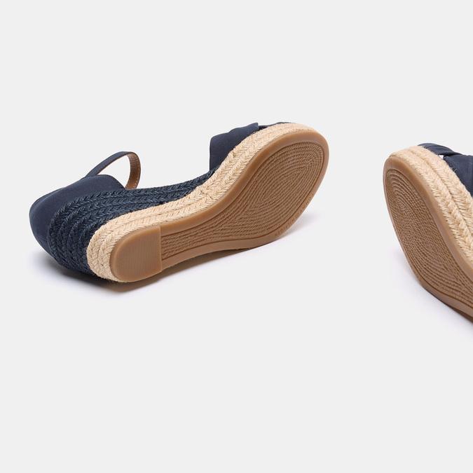 Sandales compensées tommy-hilfiger, Bleu, 669-9202 - 17