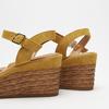 Sandales compensées bata, Jaune, 763-8938 - 15