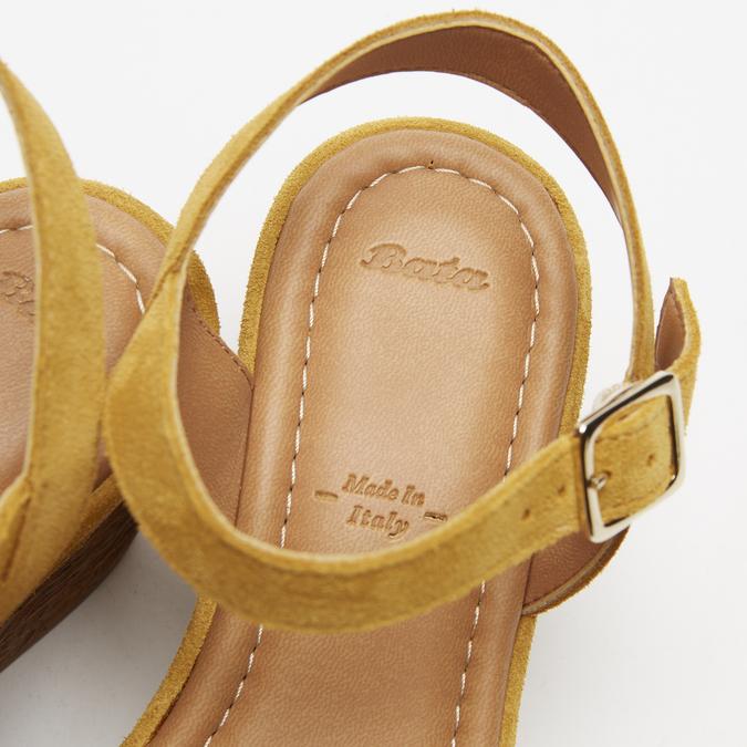 Sandales compensées bata, Jaune, 763-8938 - 17