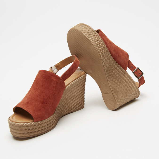Sandales à plateforme bata, Brun, 763-4125 - 16