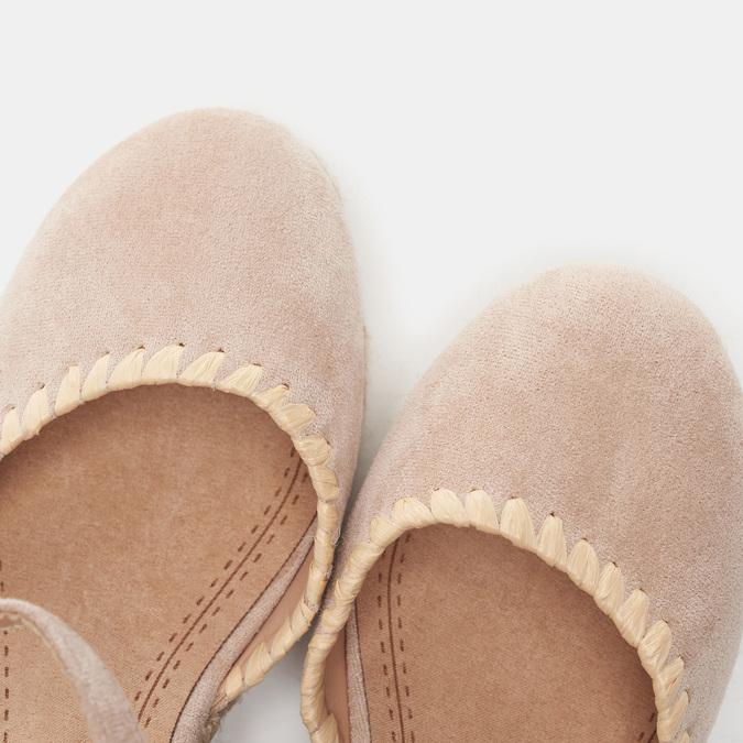 Sandales compensées bata, Beige, 769-8871 - 17