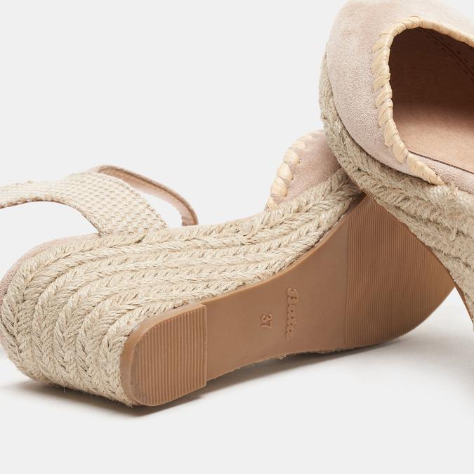 Sandales compensées bata, Beige, 769-8871 - 19