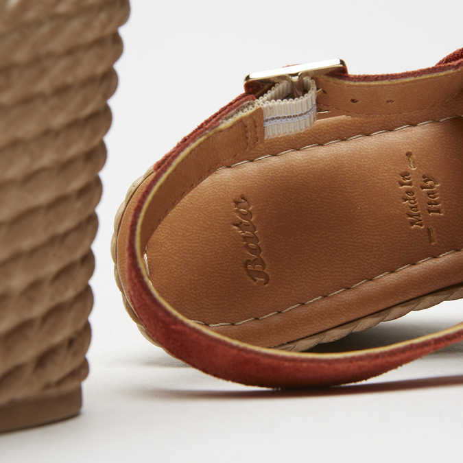 Sandales à plateforme bata, Brun, 763-4125 - 15