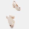Sandales à talon large et à plateforme bata, Gris, 769-2865 - 19