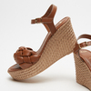 Sandales à plateforme bata, Brun, 764-4129 - 19