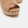 Sandales à talon large et à plateforme bata, Beige, 769-8865 - 26