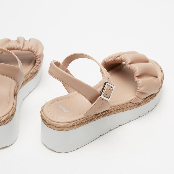 Sandales à plateforme bata, Rose, 761-5289 - 17