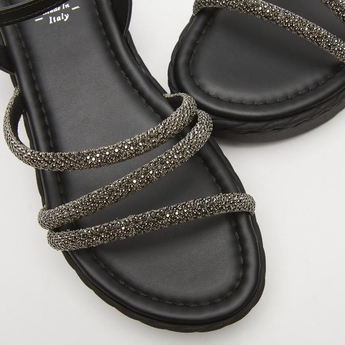 Sandales à plateforme bata, Noir, 761-6240 - 16