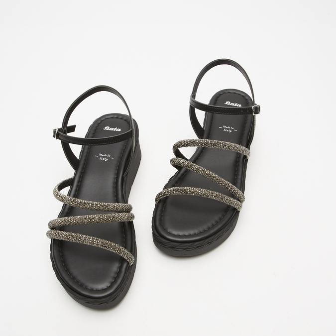 Sandales à plateforme bata, Noir, 761-6240 - 26