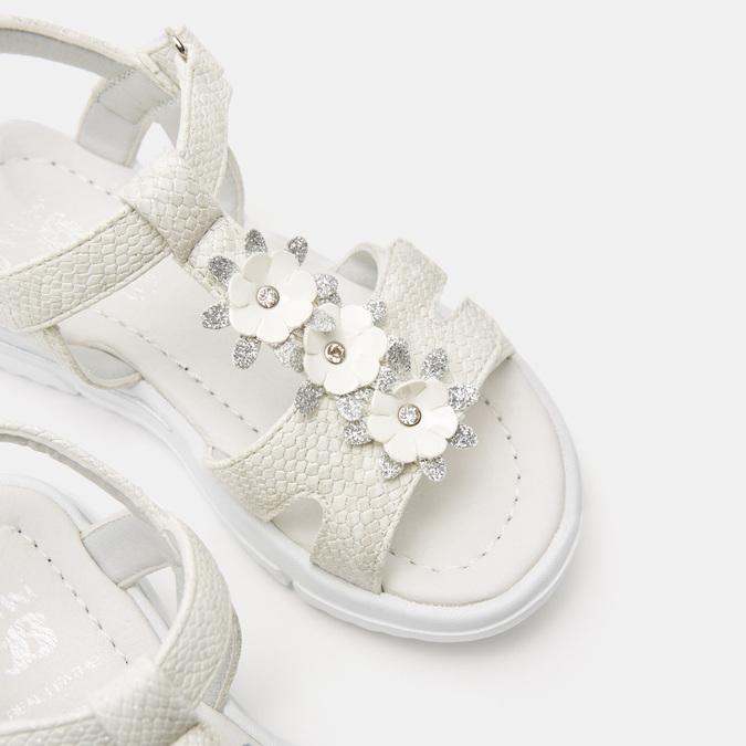 Sandales fille mini-b, Blanc, 261-1269 - 16