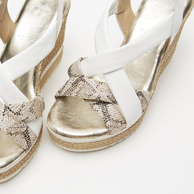 Sandales à plateforme bata, Blanc, 764-1158 - 17