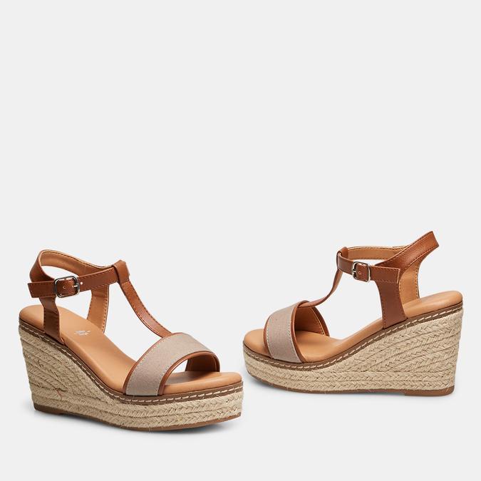 Sandales compensées bata, Jaune, 769-8916 - 26