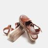 Sandales compensées bata, Brun, 761-3923 - 17