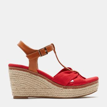Sandales compensées bata, Rouge, 769-5913 - 13