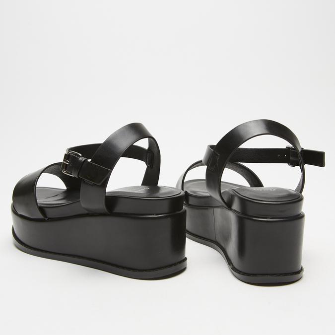 Sandales femme à plateforme bata, Noir, 761-6950 - 15