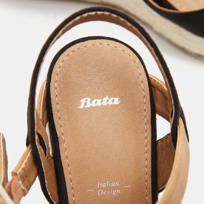 Sandales compensées bata, Noir, 769-6912 - 16