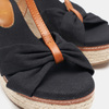 Sandales compensées bata, Noir, 769-6913 - 19
