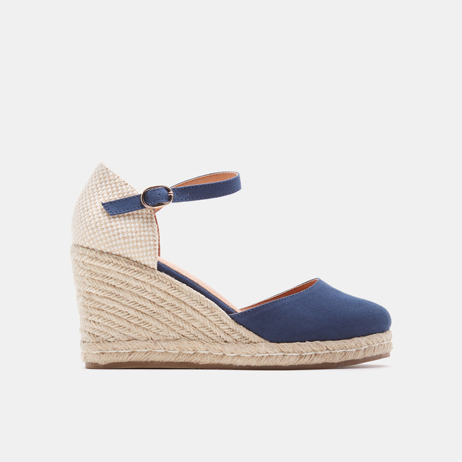 Sandales compensées bata, Bleu, 769-9921 - 13