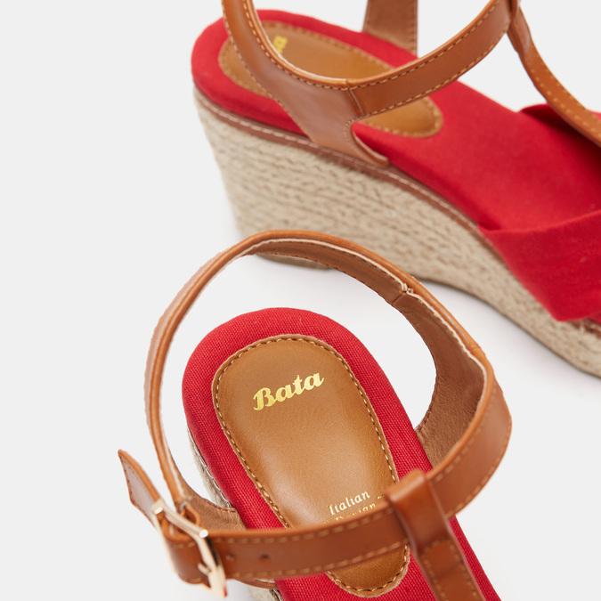 Sandales compensées bata, Rouge, 769-5913 - 19