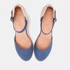 Sandales compensées bata, Bleu, 769-9921 - 19