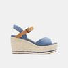 Sandales compensées bata, Bleu, 769-9912 - 13