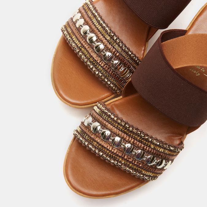 Sandales compensées bata, Brun, 769-3925 - 19