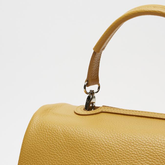 sac à main en vrai cuir bata, Jaune, 964-8152 - 26