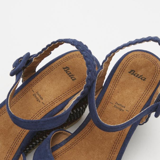 Sandales compensées bata, Bleu, 769-9920 - 19