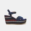 Sandales compensées bata, Bleu, 769-9920 - 13