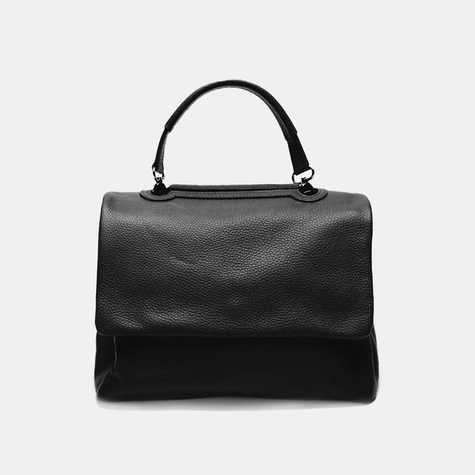 sac à main en vrai cuir bata, Noir, 964-6152 - 13