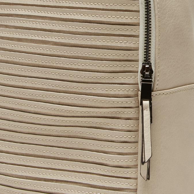 sac à dos à effet matelassé visible bata, Beige, 961-8188 - 26