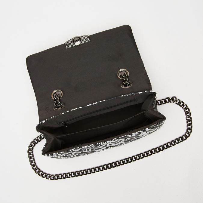 petit sac à main imprimé à effet matelassé bata, Noir, 961-6134 - 17