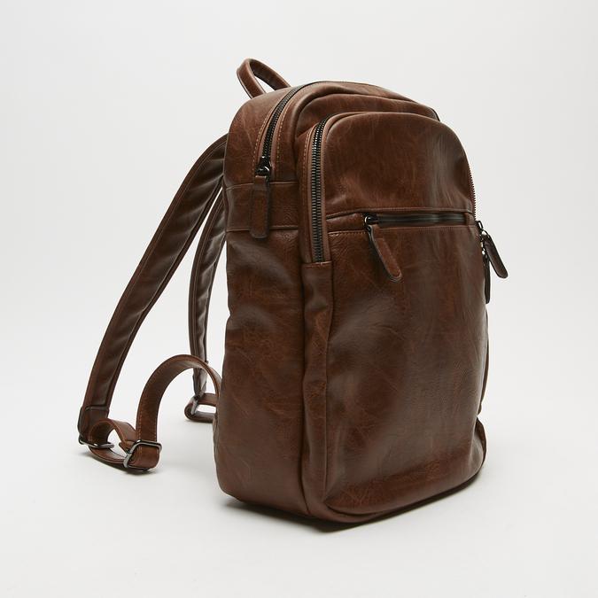sac à dos à triple fermeture éclair bata, Brun, 961-3367 - 26