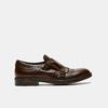 chaussures basses en cuir à boucle bata, Brun, 814-4133 - 13
