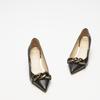 escarpins pointus en cuir bata, Noir, 624-6152 - 16