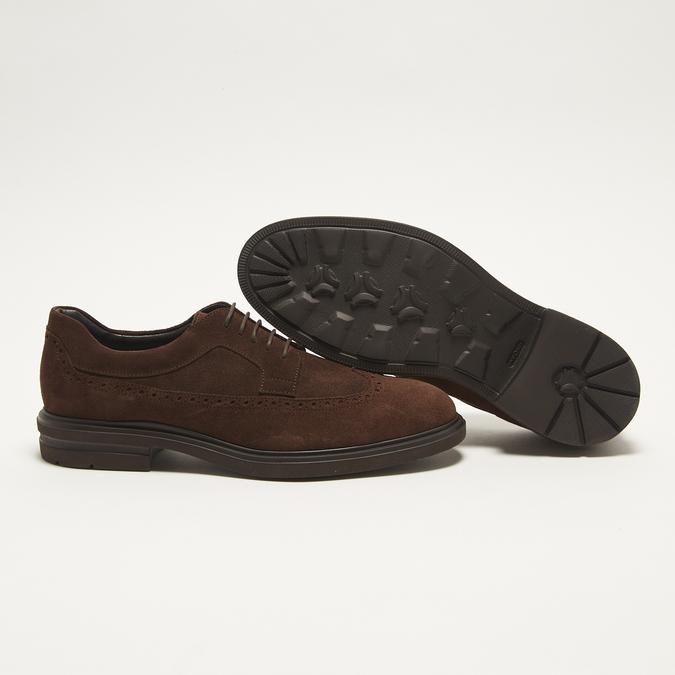 chaussures basses brogue en suède bata, Brun, 823-4129 - 19