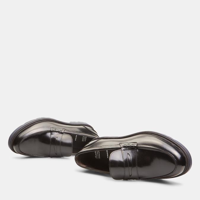 mocassins en cuir brillant à semelle track bata, Noir, 814-6136 - 26