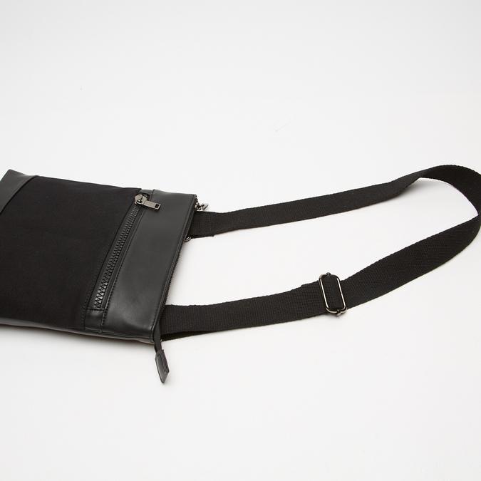 sac à bandoulière à double fermeture éclair bata, Noir, 961-6168 - 16