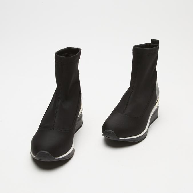 baskets hautes compensées bata, Noir, 699-6144 - 26