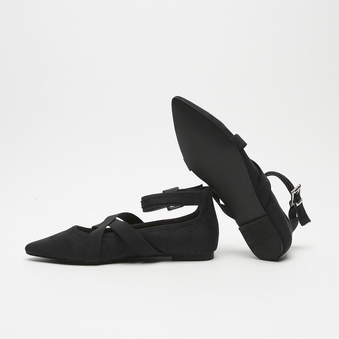 ballerines pointues à lanière bata, Noir, 529-6244 - 19