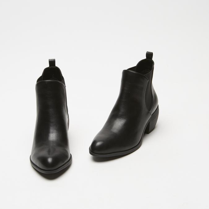 bottines pointues à talons cubains bata, Noir, 791-6466 - 26