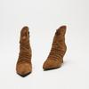 bottines pointues à effet ondulé bata, Brun, 793-3764 - 26