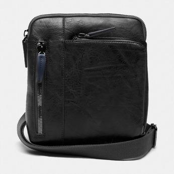 sac à bandoulière à trois fermetures éclair bata, Noir, 961-6366 - 13