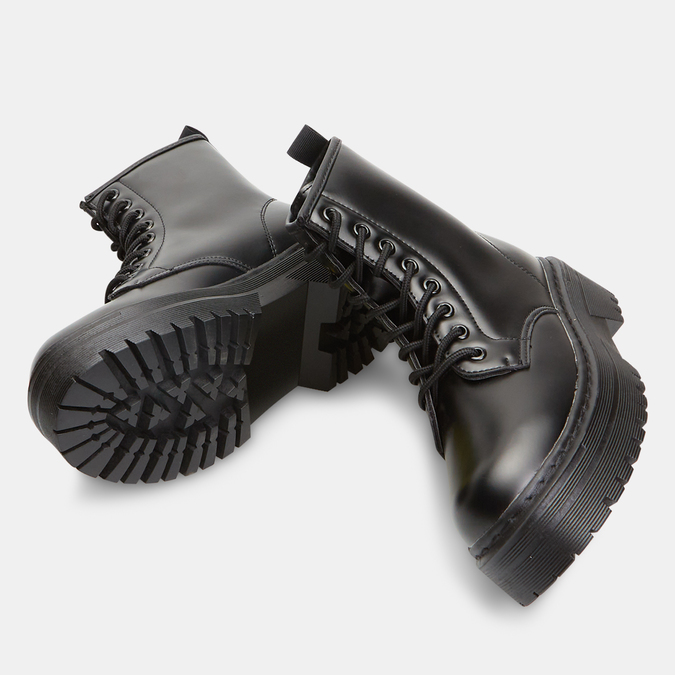 bottines à plateforme femme bata, Noir, 591-6490 - 19