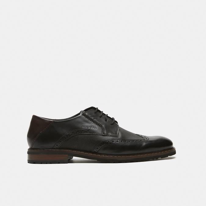 chaussures basses brogue en cuir bugatti, Noir, 824-6250 - 13