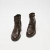 bottines en vrai cuir et à effet ondulé bata, Brun, 794-4753 - 26